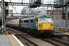 87002 arrives Kings Cross on GBRf Staff Special 9th August 2014