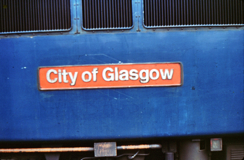 87006 nameplate Euston  17 Oct 81