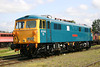 87002 now preserved is seen back in BR blue at Long Marston 7th June 2008