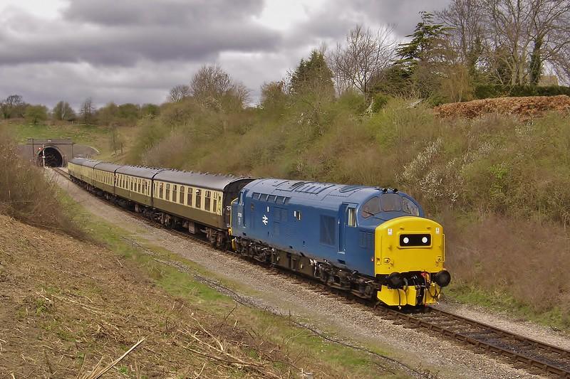37215 on the 12:35 Cheltenham Racecourse to Toddington at Winchcombe 5/4/2008.