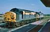 37046 & 37222 at Didcot 29/7/1995.