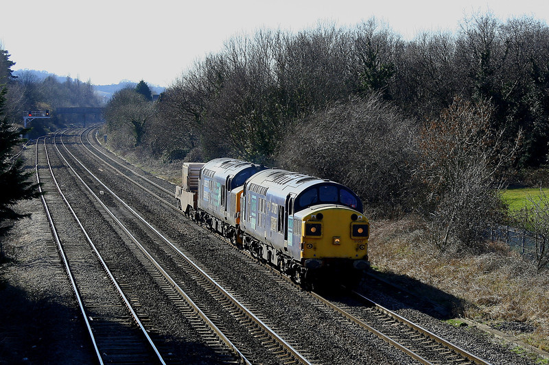 37087 & 37423 6M56 Berkeley to Crewe at Cheltenham Spa 08/03/2010.
