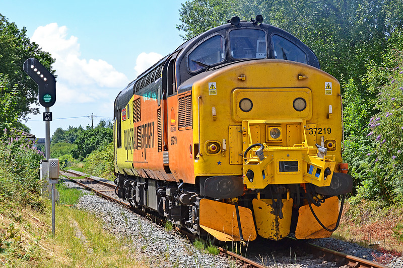 37219 0C03 0659 Canton  to Canton via LLanelli & Hendy Junction at Hendy Junction 14/7/18.