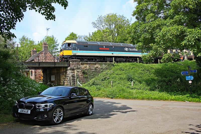 47712 12:06 Bridgnorth to Kidderminster at Hampton Loade 18/5/18.
