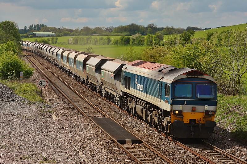 59102 6L21 Whatley to Dagenham at Crofton 16/05/13.