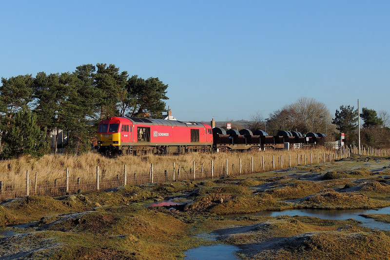 60001 6B11 Margam to Trostre at Llangennech 16/2/14.