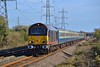 67005 top and tail with 67006 1Z83 13:15 London Euston to Port Talbot Parkway at Margam 5/4/17.