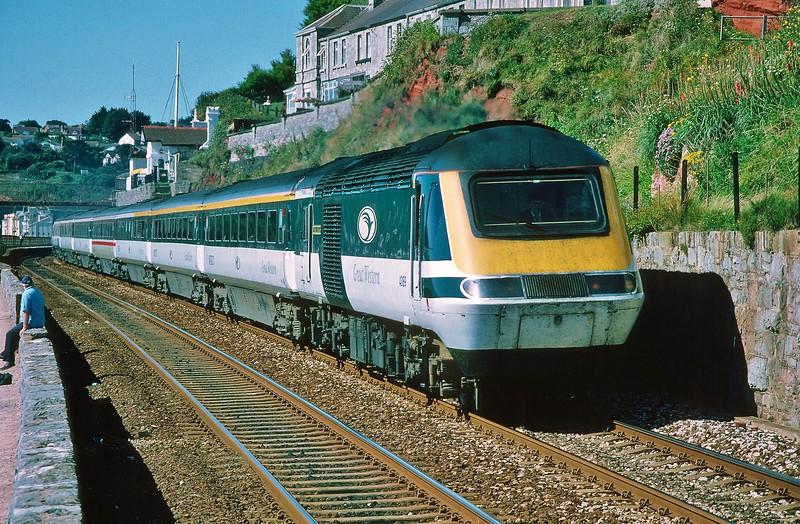 43189 07:54 Penzance to London Paddington at Dawlish 8/8/1998.