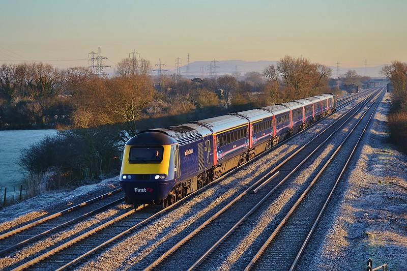 43185 & 43026 1B05 06:45 London Paddington to Swansea at Coedkernew 20/1/16.