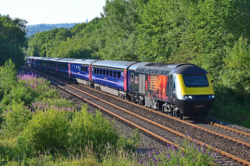 43172 & 43182 1B01 0723 Swansea to Pembroke Dock at Gowerton 14/7/18.