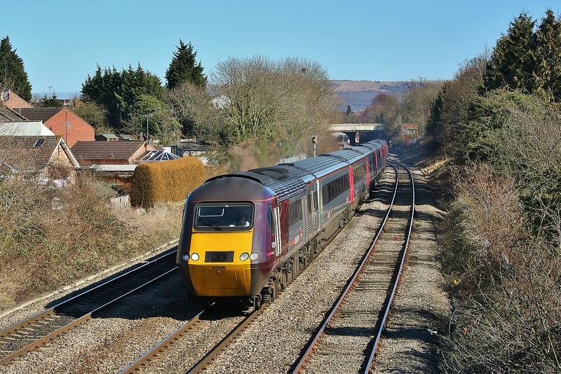 43366 & 43303 06:08 Edinburgh to Plymouth at Cheltenham Spa 08/03/2010.