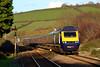 43165 & 43017 1L74 14:55 Carmarthen to London Paddington at Ferryside 23/11/14.
