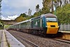 43187 & 43188 1L71 14:37 Swansea to London Paddington at Baglan 1/10/16.