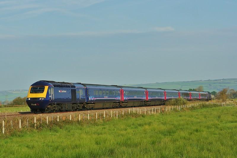 43175 & 43078 09:35 Carmarthen to London Paddington near Kidwelly 01/10/11.