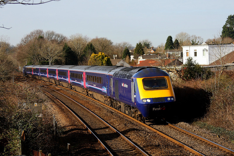 43181 + 43029 1L48 09:28 Swansea to London Paddington near Pencoed 1/3/14.