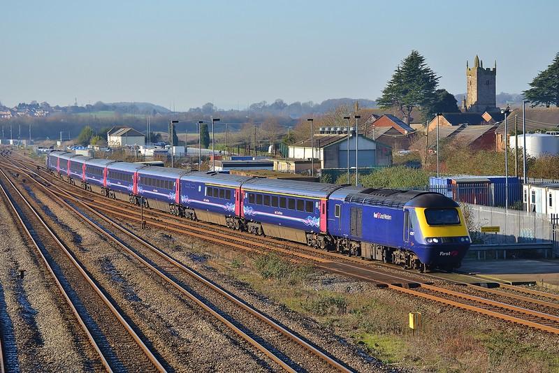 43197 & 43015 1L55 11:28 Swansea to London Paddington at Severn Tunnel Junction 20/1/16.