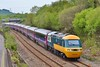 43002 & 43033 1B25 10:37 London Paddington to Swansea at Neath 8/5/16.