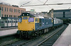 27066 awaits departure from Carlisle with the 1S37 12:40 to Glasgow Central on Saturday 14th July 1984.
