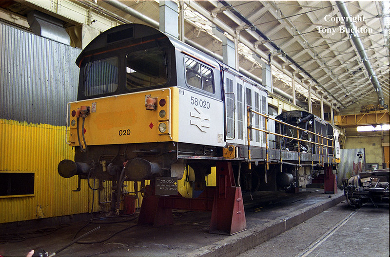 58020 Doncaster Works Open Day, July 12th 1992.