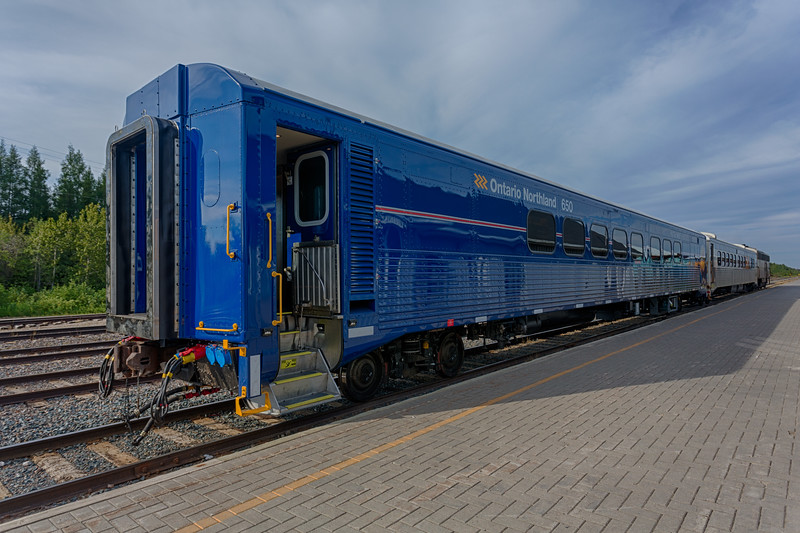 Coach 650 (ex 612) refurbished at Moosonee with snack 702 and APU 204. HDR efx default.