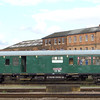 Inspection saloon 'Caroline' at Derby on 24th July 2007 re-built from a Hastings set buffet car fitted with B5 bogies