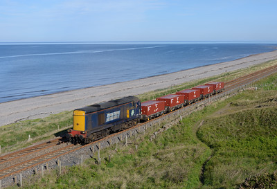 With DRS strapped for power 20305 was the only loco available for the Drigg trip seen at Seascale 11/6/15.