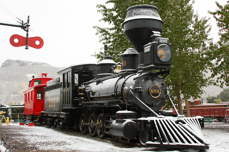 Denver Leadville and Gunnison 191, 2-8-0, ex-Denver South Park and Pacific. This is the oldest steam locomotive in Colorado.