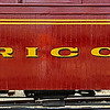Rio Grande Southern Passenger Car Rico, freshly painted at the Colorado Railroad Museum.