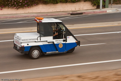 San Diego Police Department Parking Enforcement Officer scooter.