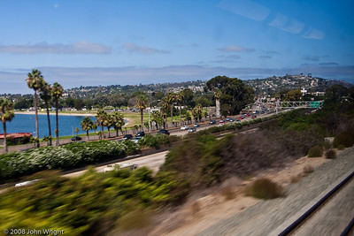 Pacific Beach from the Coaster