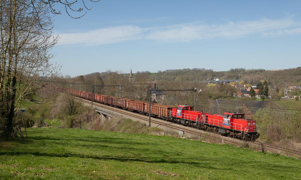 DBS-NL 6506 and 6509 bring the 48553 (Genk - Köln-Kalk/D) downgrade through Boirs.