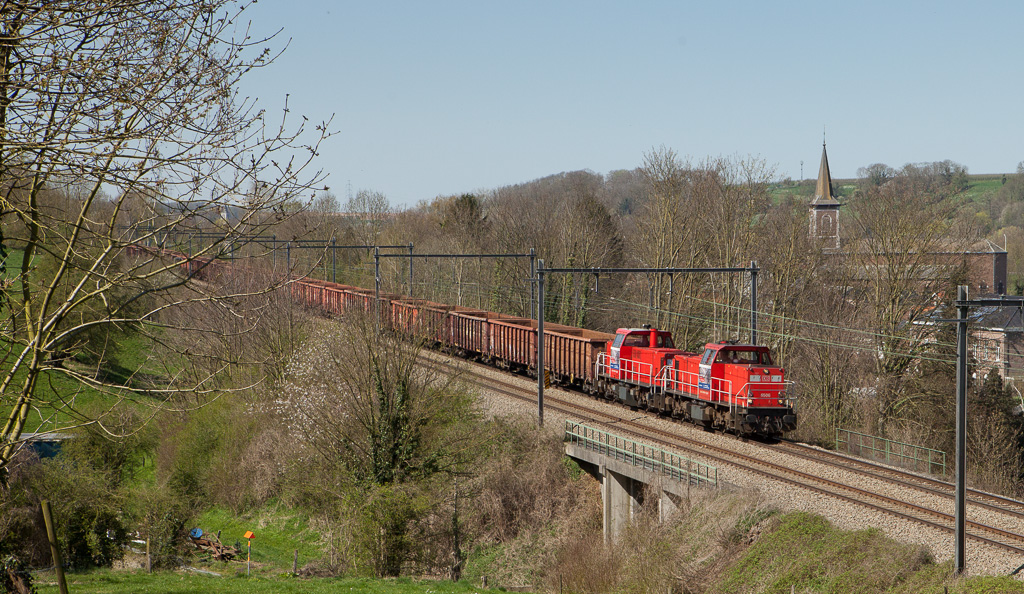 DBS-NL 6506 and 6509 on the 48553 (Genk - Köln-Kalk/D) in Boirs.