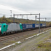 2901 has the aluminium train 46455 (Widnes/GB - Neuss/D) in tow past the largely idled Montzen yard.