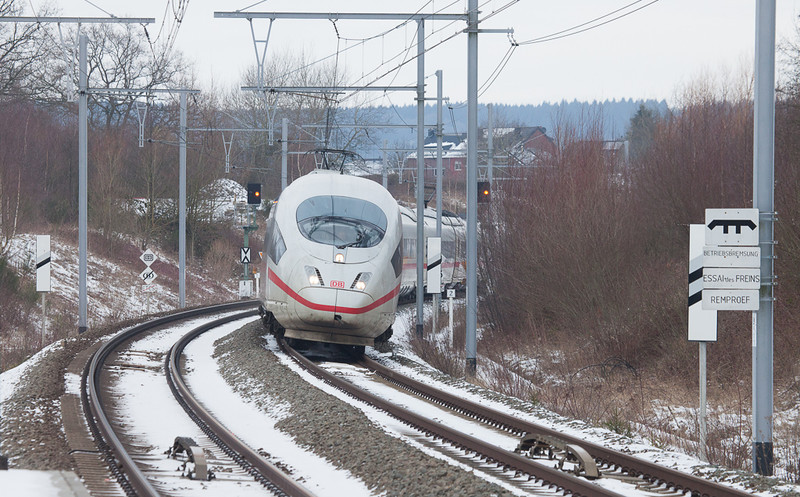 ICE passing the SNCB-DB system border in Hergenrath.