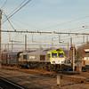 Captrain 6605 with empty coke train Bottrop/D - Seraing passes through Vise Bas.