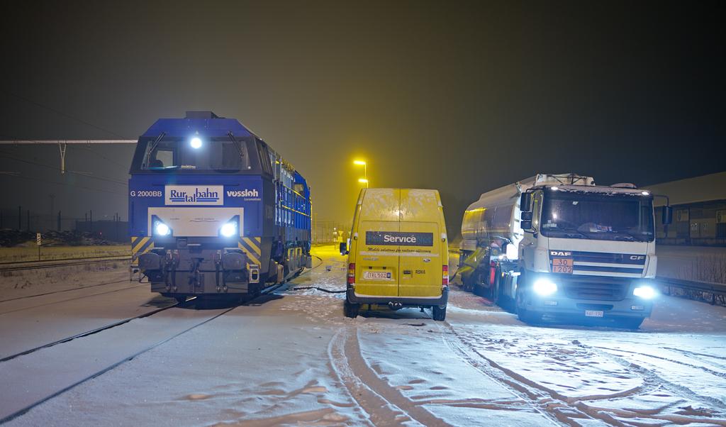 RTB/TSP G2000 V206 filling up at Crossrail's tank truck in Montzen.