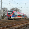 The Euregiobahn operates passenger service on a number of main and branch lines in the Aachen area and into the Netherlands. The class 643 Talents have been a resounding success with riders, offering frequent, comfortable transportation.<br /> <br /> Here a pair of them are seen accelerating away from the station stop at Kohlscheid enroute to Eschweiler-Weisweiler via Aachen.
