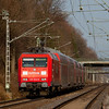 More than meets the eye - a leased Railion 145 on a RE4 commuter train (Dortmund-Aachen Hbf) approaching Kohlscheid.