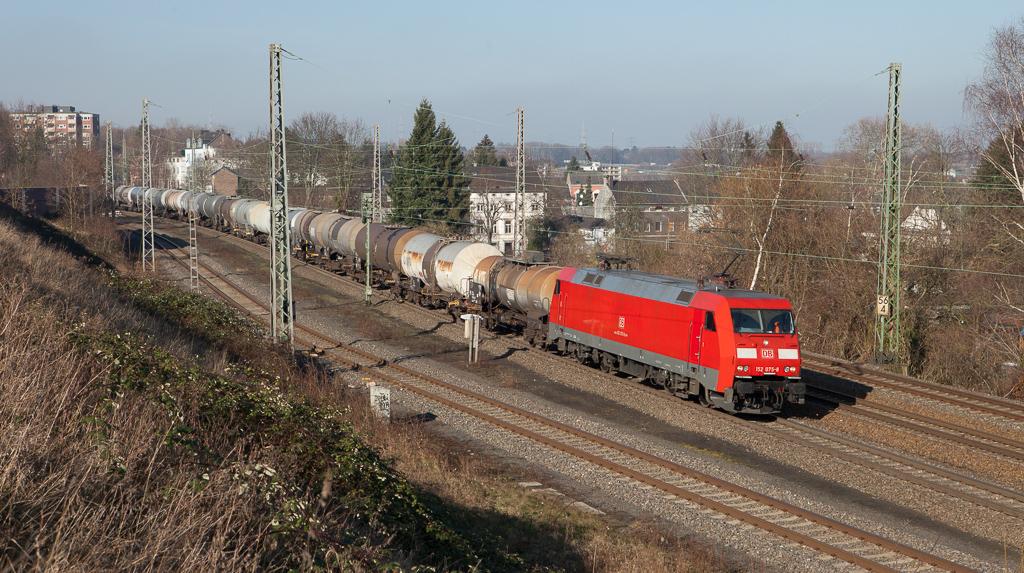 152 075 leads the 47563 (Antwerp BASF/B - BASF Ludwigshafen) through Eschweiler.