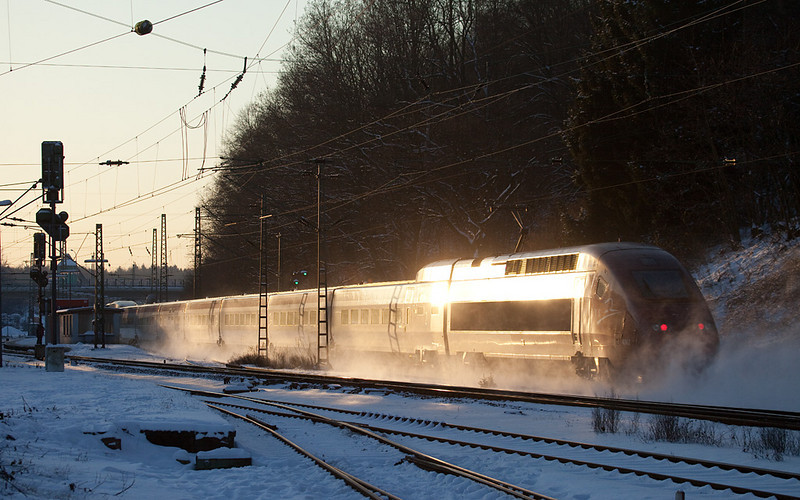 Westbound Thalys in Stolberg Hbf.