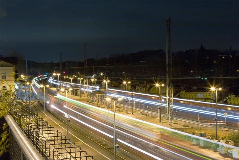 Composite of three night shots taken in Herzogenrath.