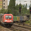 The Siemens Taurus comes in many flavors, including Railion/DB Schenker's red version, called class 182. These engines are used both in freight as well as intercity passenger service and are a common sight in southern Germany. They are certified to operate into Austria.