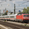 "The class 120s were the first three-phase AC electrics in Germany, coming into service in the 1980s. A number of them are still running in intercity service after 20 years. What used to be a very progressive exterior has since ""evolved"" into almost a classic. Well, the perception of it has evolved, anyway..."