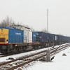 Volkerrail 203-2 operating for Locon with the trash train 50094 (Haanrade - Wijster) in Haanrade.