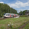 "Veolia Gtw towards Maastricht departing Schin op Geul. The trackage at right belongs to the <a href=""http://www.zlsm.nl/"">ZLSM</a> steam railway."