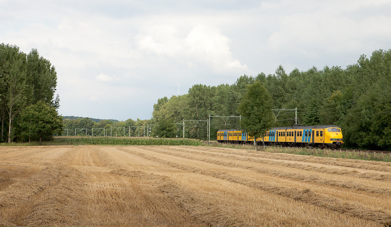 Southbound Plan V passes a harvested grain field near Weert.