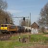 RRF 4402 on the limestone empties 47615 (Veendam - Hermalle s/Huy/B)  between Susteren and Nieuwstadt. The 66 is dead in tow.