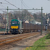 Vossloh 1384 with the ACTS-operated trash train 50094 (Haanrade - Maastricht - Wijster) passing through Valkenburg.