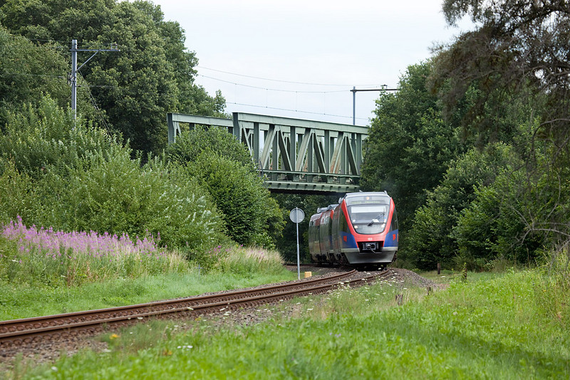 Euregiobahn Talent on line RB 20 nears Landgraaf.
