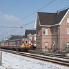 AM66 600 forms a Maastricht to Liege-Guillemins/B service as it passes the beautifully restored station building in Gronsveld. This is now a private residence.